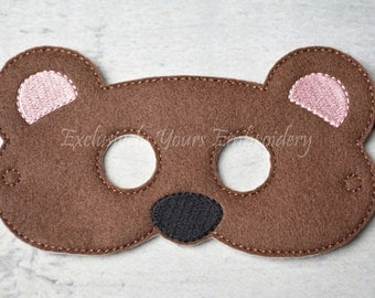 Bear Children's Mask  - Costume - Theater - Dress Up - Halloween - Face Mask - Pretend Play - Party Favor