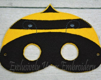 Bumblebee Children's Mask  - Costume - Theater - Dress Up - Halloween - Face Mask - Pretend Play - Party Favor