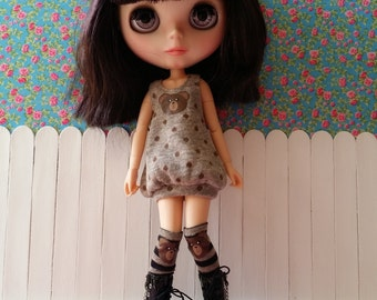 Set-Brown dress and stockings for BLYTHE and pure neemo