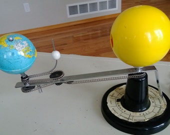 Vintage Lighted Planetarium Tellurian Free Shipping