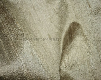 Dupioni Silk Fabric in Gold and Grey Sold By the Yard, Indian Silk fabric, Raw Silk, Silk Fabric for wedding dresses