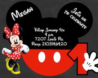 Minnie Mouse Digital Invitation