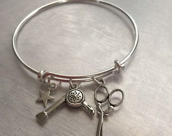 hairstylist beauty school bracelet