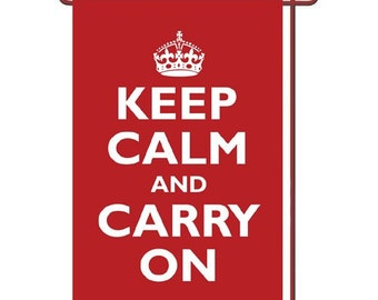 "Keep Calm and Carry On Garden Flag 12.5"" x 18"""