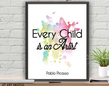 Popular Items For Every Child Is An Artist On Etsy
