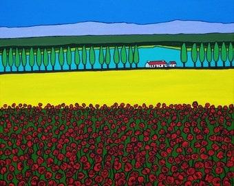 Poppy Field Provence (Print)