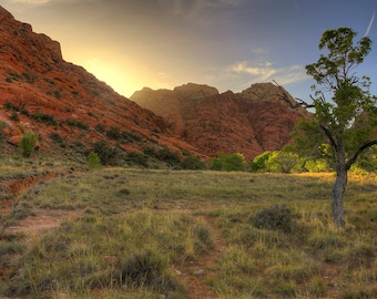 Red Rock, Calico Basin, Sunset, Las Vegas, Nevada