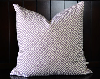 Purple pillow cover , Lilac Decorative Pillow Cover, Cushion Cover, Geometric Cushions : Modern-Cottage Home Decor