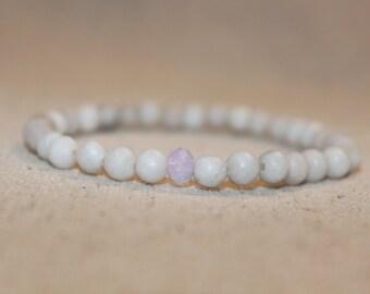 White Stone Beaded Bracelet