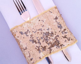 Sequin napkin ring sparkly napkin holder for your tableware.
