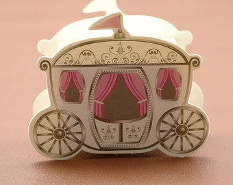 Lot of 10 Fairytale Princess Carriage Bonbonniere Boxes - Wedding, Party, Event Gift Boxes
