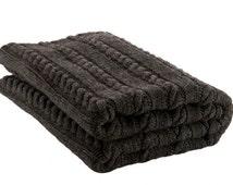 Merino wool blanket, cable knit blanket, merino blanket, wool blanket, bed cover, warm blanket, wool bed throw, wrap, knitted wool blanket