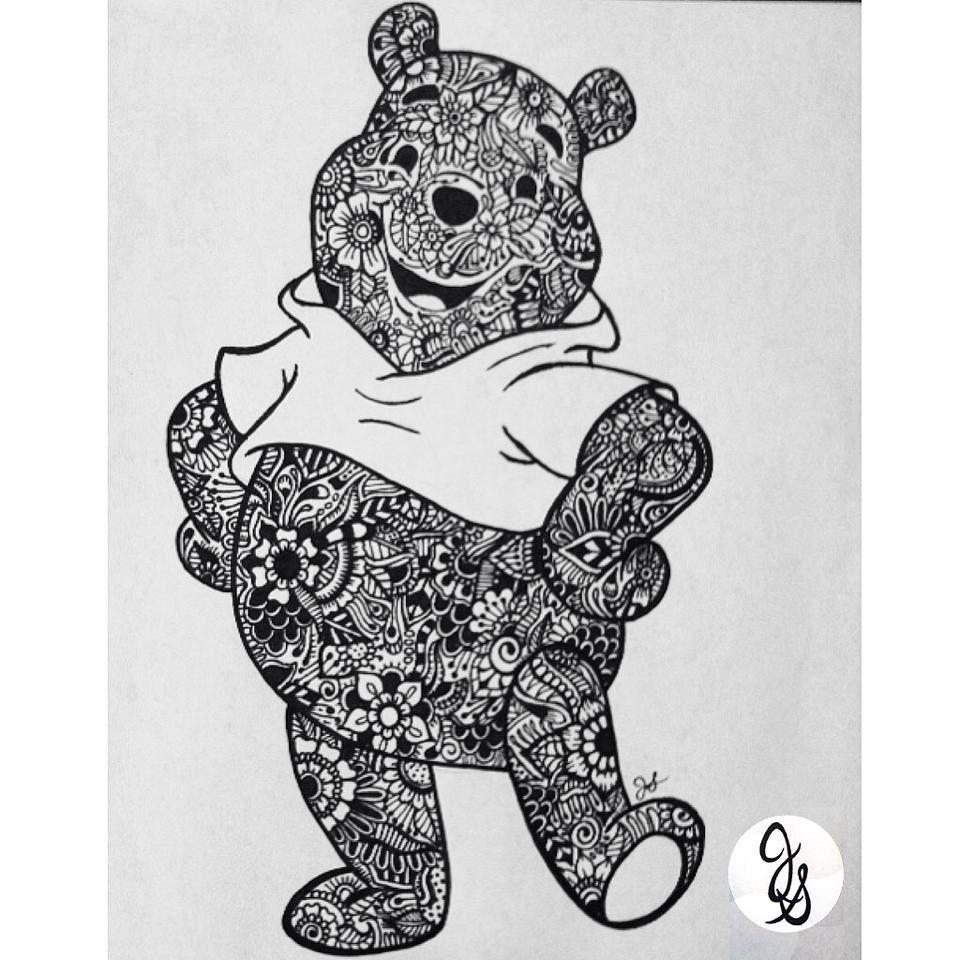 Floral Pooh Bear