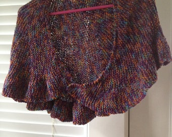 Purple 'Tweed' Assymmetric Shawlette