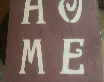 primitive home sign, home sign, burlap sign, primitive sign, primitive decor, country sign, country decor, home decor, home & Halloween in 1