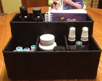 Organizer with 4 pockets to hold anything you like from books to oils! Storage/rack/shelf/divider/make-up