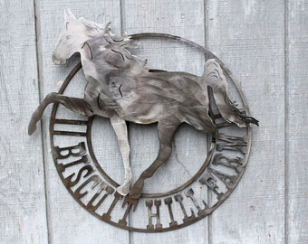 Personalized Horse Farm Sign, Address Sign, Name Sign, 3D Sign, Ranch Sign, Metal Address Sign