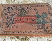 1800s Autograph Book With Memories, Good Wishes, and Advice For the Young Owner, Beautiful Birds Cover #133 ok