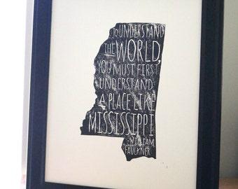 Mississippi Faulkner Print