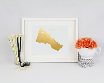 Hanover County Foil Prints // Home Town Prints // Hanover County // Home Sweet Home // Custom Home Prints