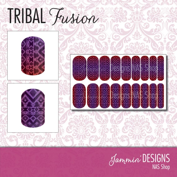 Tribal Fusion NAS (Nail Art Studio) Design