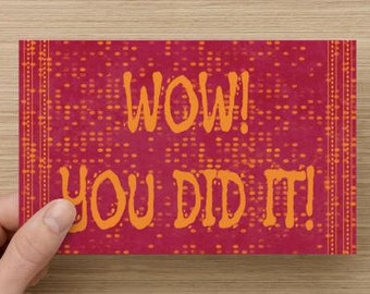 Wow You Did It!~Greeting Card~Graduation~accomplishment~Congratulations, Dreams, Celebration, direct sellers, Uplifting, Encouragement