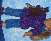 American girl doll crocheted pajama set