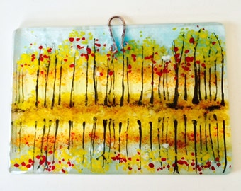 Reflections fused glass