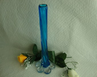 Vintage Mid Century Art Deco Murano  Glass Vase Retro
