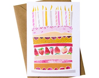 Greetings Card : Birthday Cake