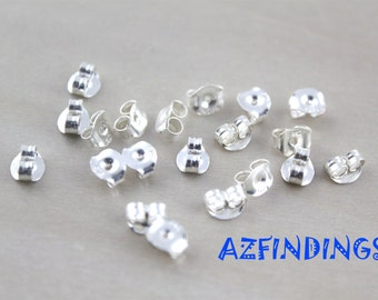 10pairs-925 sterling silver earring backings for all size of earring studs-with 925 letters writen--findings