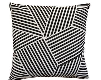 Nate Berkus Black & White Geometric Pillow Cover 50x50cm