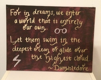 "Harry Potter ""Dreams"" Hand Painted Canvas"