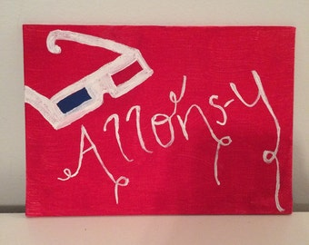 "Doctor Who ""Allons-y"" Hand Painted Canvas"