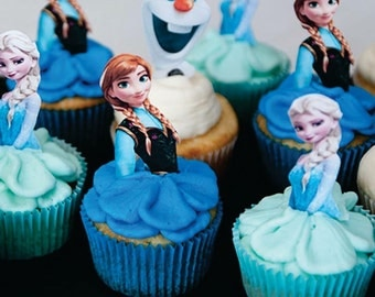 Frozen cupcake toppers (24) pcs