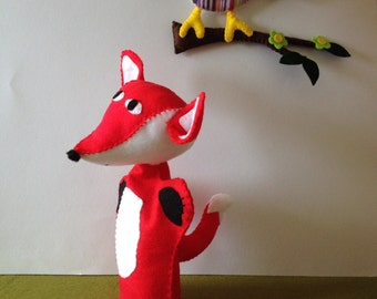Fox hand puppet  - children toy, theatre  -