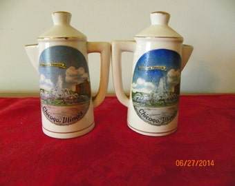 Set of Salt and Pepper Shakers, Buckingham Fountain, Chicago, Illinois