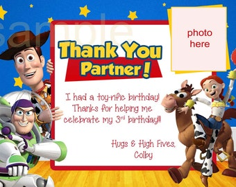 Toy Story Thank You Note, Toy Story Thank You Card. Digital (you print)