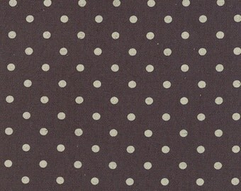 MODA - Mochi Dot LINEN - Charcoal - 32910 20  - White - Black - Dots - Print