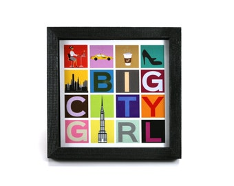 Big City Girl - Office Print and Frame