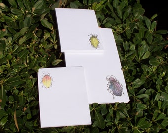 Hand Sketched Insect Design Notepads