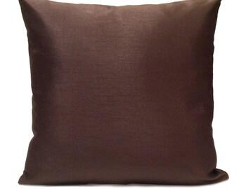 Dark Chocolate Pillow, Throw Pillow Cover, Decorative Pillow Cover, Cushion Cover, Pillowcase, Accent Pillow, Toss Pillow, Home Decor, Silk