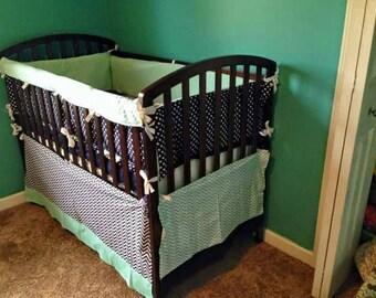 Whale crib bedding