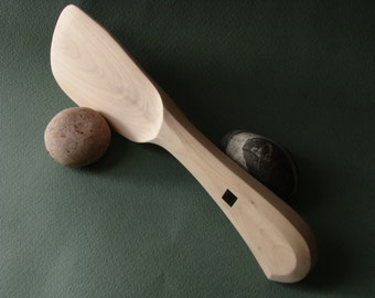 Straight blade spreader knife, Cheese or Butter Knife, Wooden Knife in  pear tree.