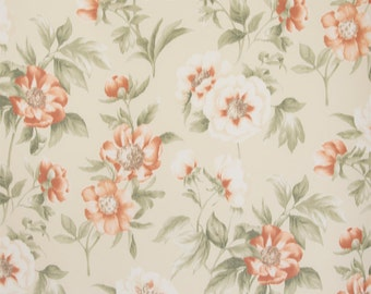 SCALAMANDRE ANEMONE FLORAL Warp Printed Silk Fabric 10 Yards Cream Multi