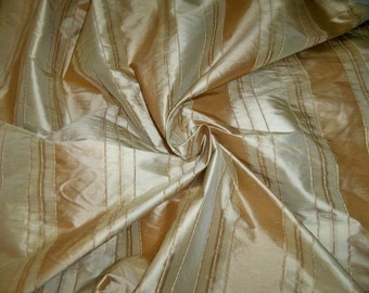 TAPESTRIA MONTEL Stripes SILK Damask Fabric 10 yards Gold Beige Cream