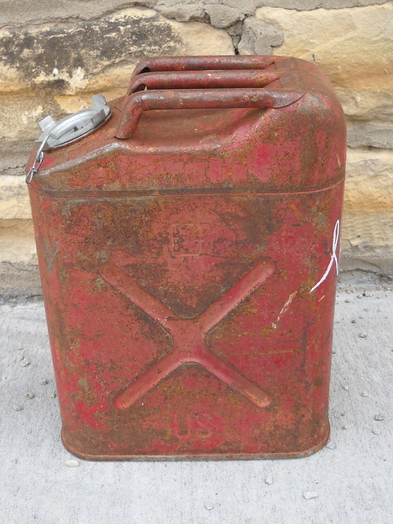 Vintage Original U S Military Jerry Can Fuel Can Gas Can