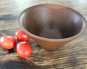 Vintage Wood Salad Bowl