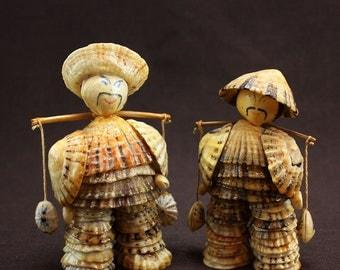 Japanese Sea Shell Men 1950s