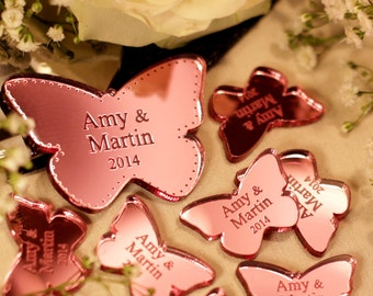 Personalised Butterfly Wedding Table Décor Mr & Mrs Scatter Favours Personalized Favors Wedding Table Confetti Summer Wedding Decoration
